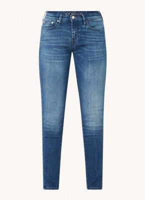 Denham Denham Sharp low waist skinny fit cropped jeans met medium wassing