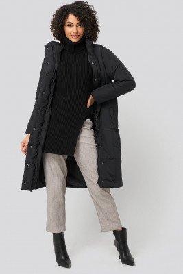 Trendyol Trendyol Padded Long Jacket - Black