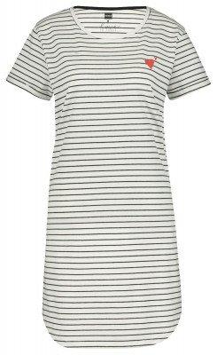 HEMA Damesnachthemd Zwart/wit (zwart/wit)