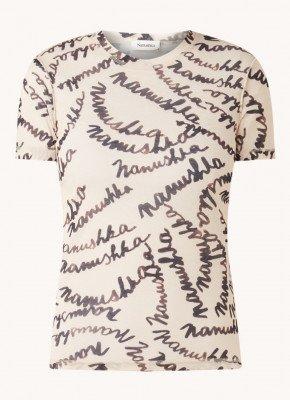 Nanushka Nanushka Guy semi-transparant T-shirt met tekstprint