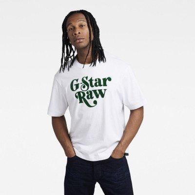 G-Star RAW Unisex Foxy Boxy T-Shirt - Wit - Heren