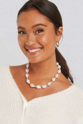 NA-KD Accessories Vintage Pearl Necklace - White