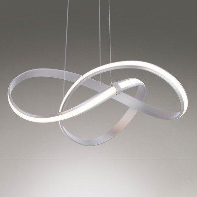 PAUL NEUHAUS LED-hanglamp Melinda, 30W, dimbaar, staalgrijs