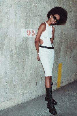 NU-IN Limited Edition Cut Out Ribbed Midi Dress