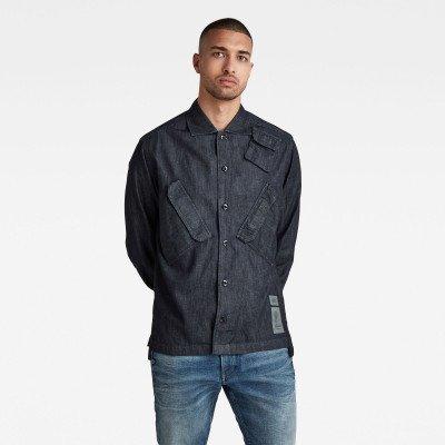 G-Star RAW Multi Slant Pocket Denim Relaxed Shirt - Donkerblauw - Heren