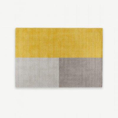 MADE.COM Elkan getuft vloerkleed van wol, 120 x 170cm, mosterdgeel