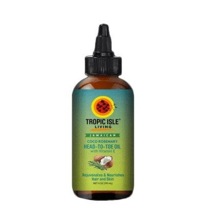Kokosolie, Rozemarijn en Vitamine E - 118 ml Tropic Isle Living