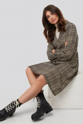 NA-KD Trend NA-KD Trend Checked Shirt Dress - Multicolor
