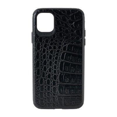 Xenos Iphone 11 hoesje croco - zwart