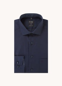 Olymp Olymp Modern fit overhemd met borstzak