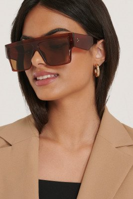 NA-KD Accessories Zonnebril - Brown