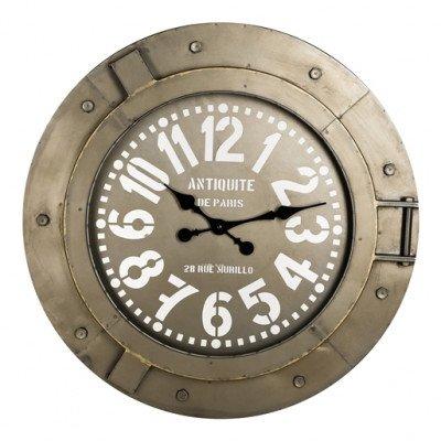 Firawonen.nl PTMD Fabric metal clock round