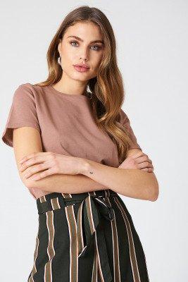 NA-KD Basic NA-KD Basic Basic T-Shirt - Pink