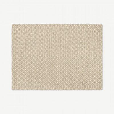 MADE.COM Mira geweven vloerkleed, 160 x 230cm, zacht taupe