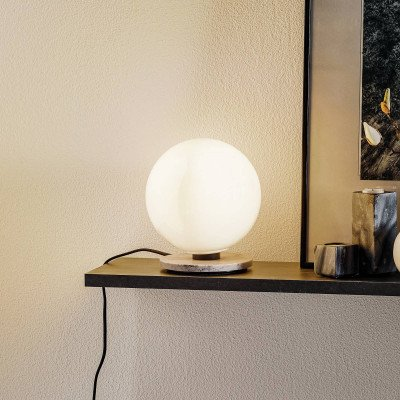 Menu Menu TR Bulb tafellamp 22cm marmer/opaal glans