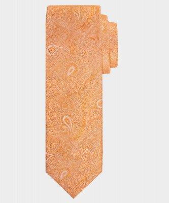Michaelis Michaelis heren paisley zijden stropdas oranje