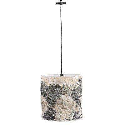 Firawonen.nl Ptmd jamilia bruin papieren plafondlamp veer hoog