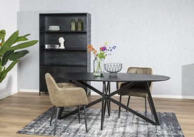 Brix Brix Vloerkleed 'Kelly' kleur Zwart, 200 x 290cm