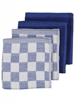 HEMA HEMA Thee-en Keukendoeken - Katoen - Donkerblauw - 4 Stuks (lichtblauw)
