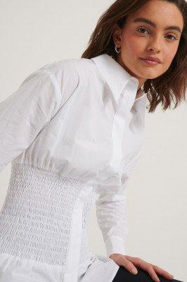 NA-KD Reborn NA-KD Reborn Gerecycleerd Oversized Shirt - White