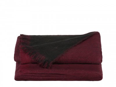 Alpaca Loca Double Plaid Bordeaux Red