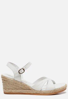 Panama Jack Panama Jack Benisa B803 sandalen met sleehak wit