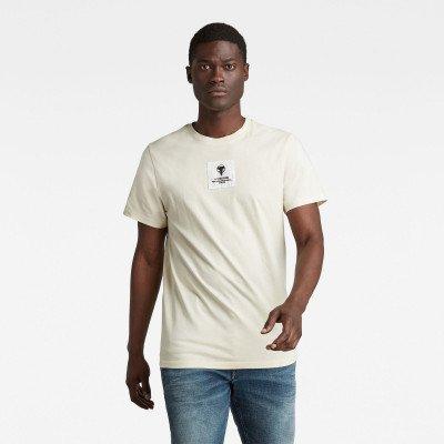 G-Star RAW Center Logo Badge T-Shirt - Beige - Heren