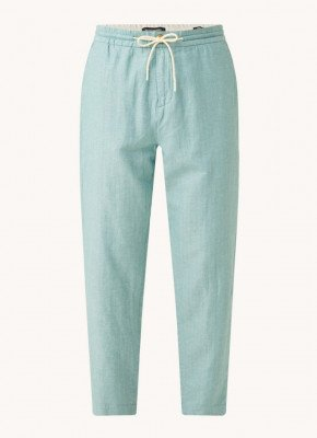 Scotch & Soda Scotch & Soda Tapered fit cropped pantalon in linnenblend