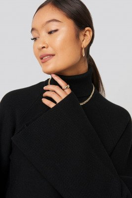 Statement By NA-KD Influencers Joann Van Den Herik Polo Neck Knitted Sweater - Black