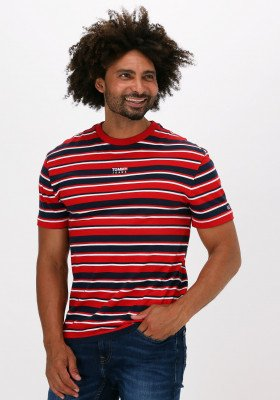 Tommy Jeans Rode Tommy Jeans T-shirt Tjm Centre Graphic Stripe Tee
