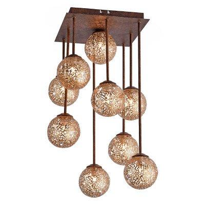 PAUL NEUHAUS Opvallend mooie plafondlamp Greta, 9 lichtbronnen