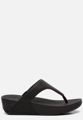 FitFlop FitFlop Lulu Shimmer Toe Post slippers zwart