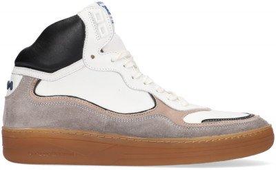 Floris van Bommel Witte Floris Van Bommel Hoge Sneaker 20371