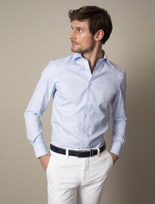 Cavallaro Napoli Cavallaro Napoli Heren Overhemd - Cegekko Overhemd - Lichtblauw