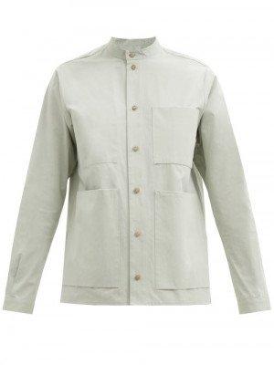 Matchesfashion Toogood - The Locksmith Cotton-poplin Shirt - Womens - Light Green