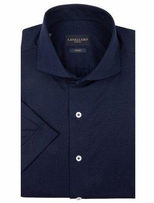 Cavallaro Napoli Cavallaro Napoli Heren Overhemd - Franco Overhemd - Blauw