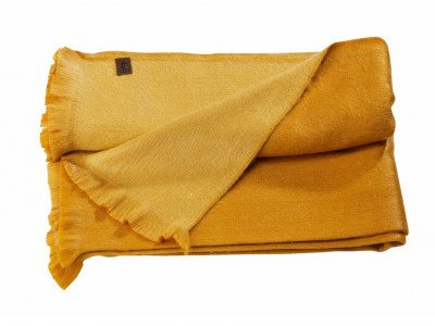 Alpaca Loca Double Plaid Ocher Natural