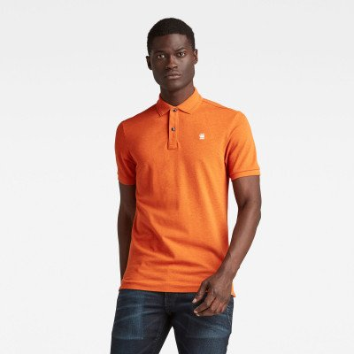 G-Star RAW Dunda Slim Polo - Oranje - Heren