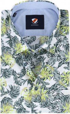 Suitable Suitable Wolf Overhemd Korte Mouw Bladeren Groen