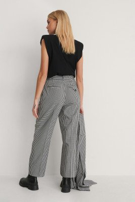 NA-KD Classic NA-KD Classic Check Cropped Pants - Multicolor