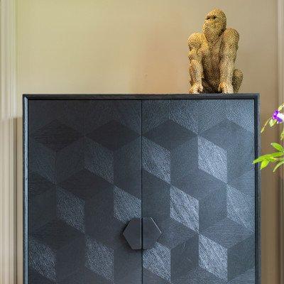 Richmond Interiors Richmond Decoratie 'Gorilla' Small, kleur Goud
