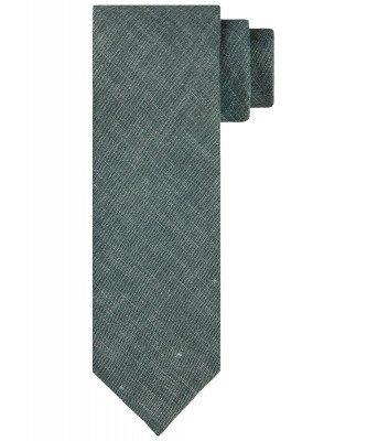 Profuomo Profuomo heren groen linnen-blend stropdas