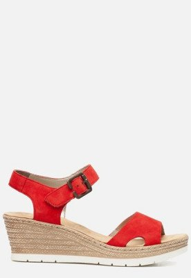 Rieker Rieker Sandalen met sleehak rood