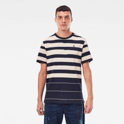 G-Star RAW Pixalated Stripe T-Shirt - Donkerblauw - Heren