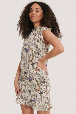 NA-KD Boho NA-KD Boho Ruffle Floral Mini Dress - Multicolor