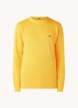 Denham Denham Sweater van biologisch katoen met logoborduring