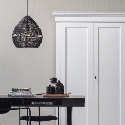 WOOOD Exclusive WOOOD Exclusive Hanglamp 'Adelaide' Ø25cm, kleur Zwart