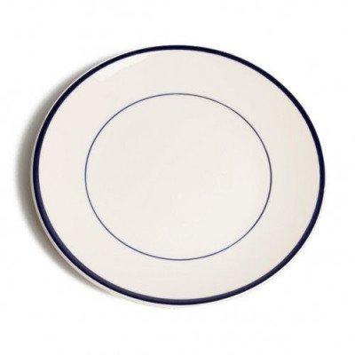 DilleenKamille Bord diner'Rand', aardewerk, donkerblauw,Ø 27 cm