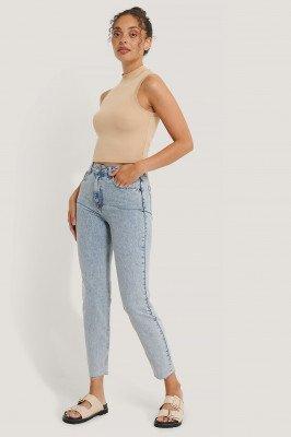 NA-KD Reborn NA-KD Reborn Organisch Steengewassen Slim-jeans Met Hoge Taille - Blue
