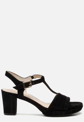 Gabor Gabor Comfort sandalen met hak zwart
